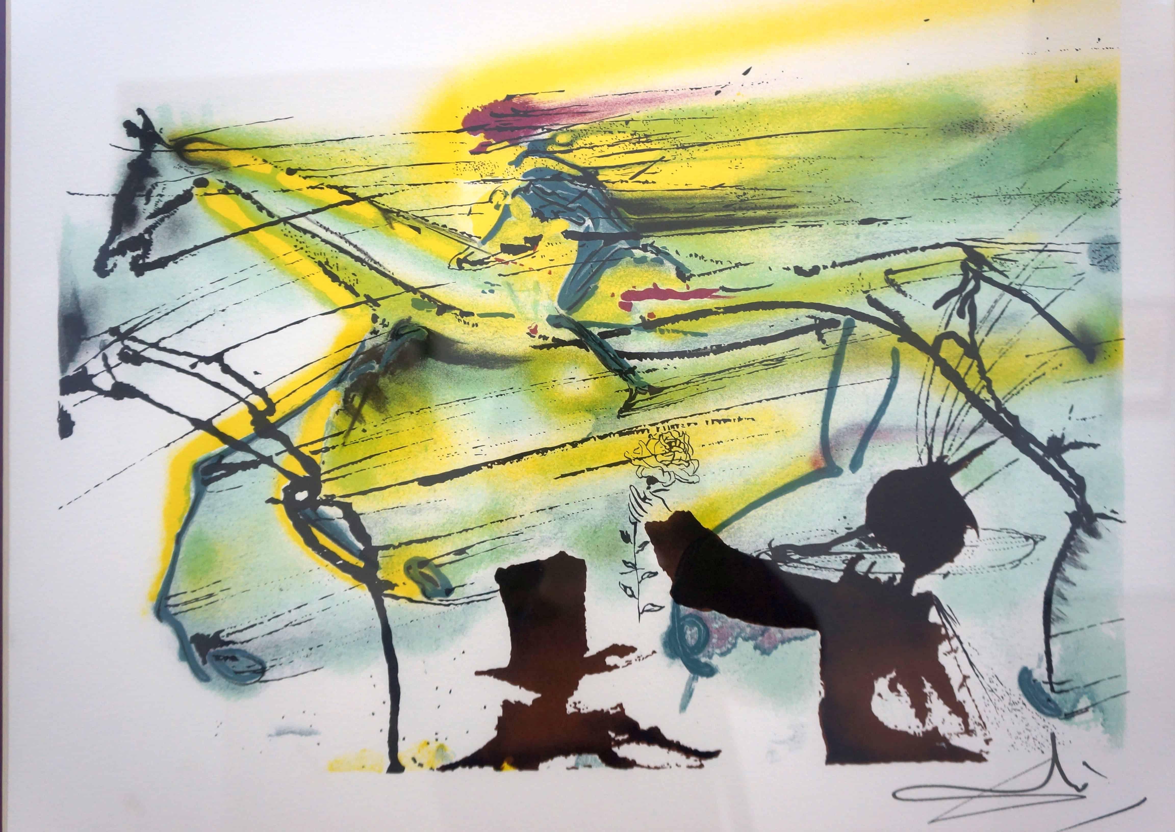 """Сальвадор Дали. Из серии """"Скаковая лошадь. Далинианские лошади"""""""