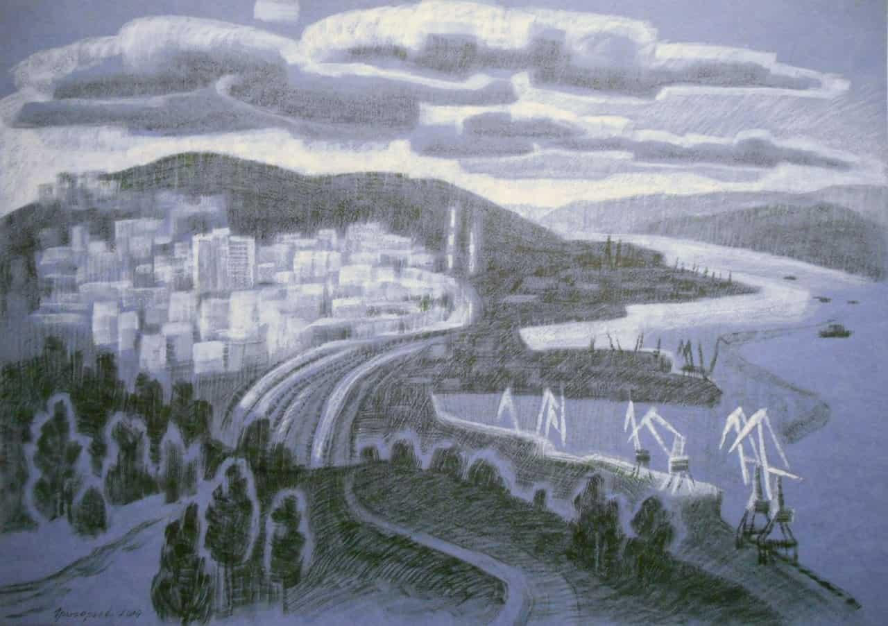 Нелли Григорьева. Вид на мурманский порт