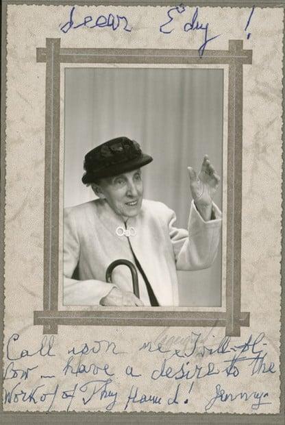 Скорее всего, это тоже Евгения Карловна, потому что надпись на фото от её имени.