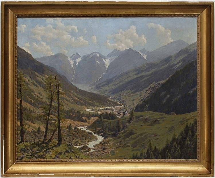 Одна из картин доктора и художника Адриена Лассерре