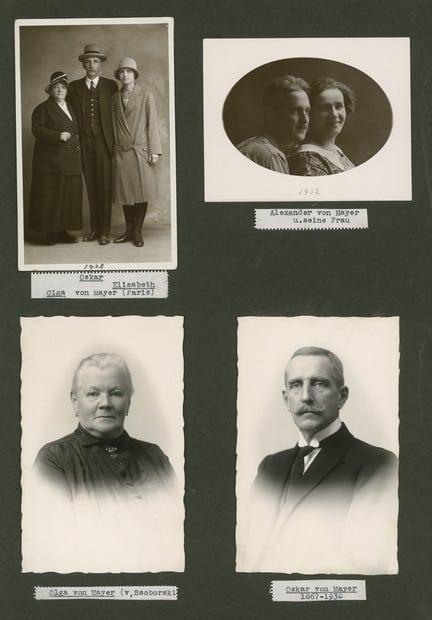 Парижские фото семьи Оскара Карловича Майера