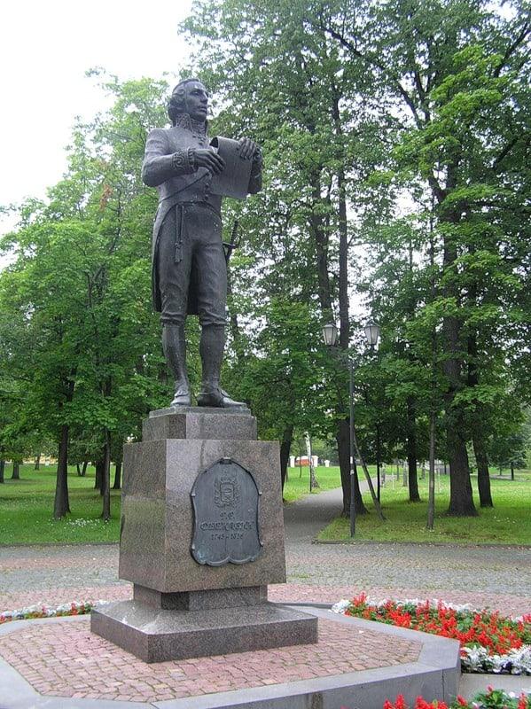 Фестиваль начнется с возложения цветов к памятнику Державину в Петрозаводске