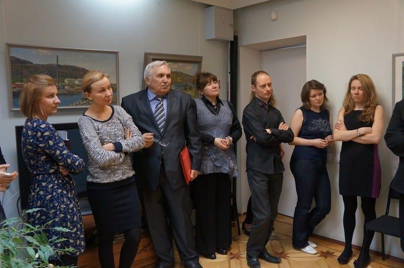 Вернисаж Нелли Григорьевой и Валентина Чекмасова в Минкульте Карелии