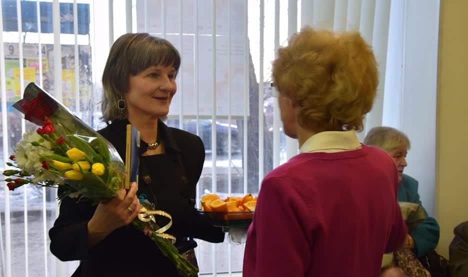 Ирина Ларионова принимает поздравления