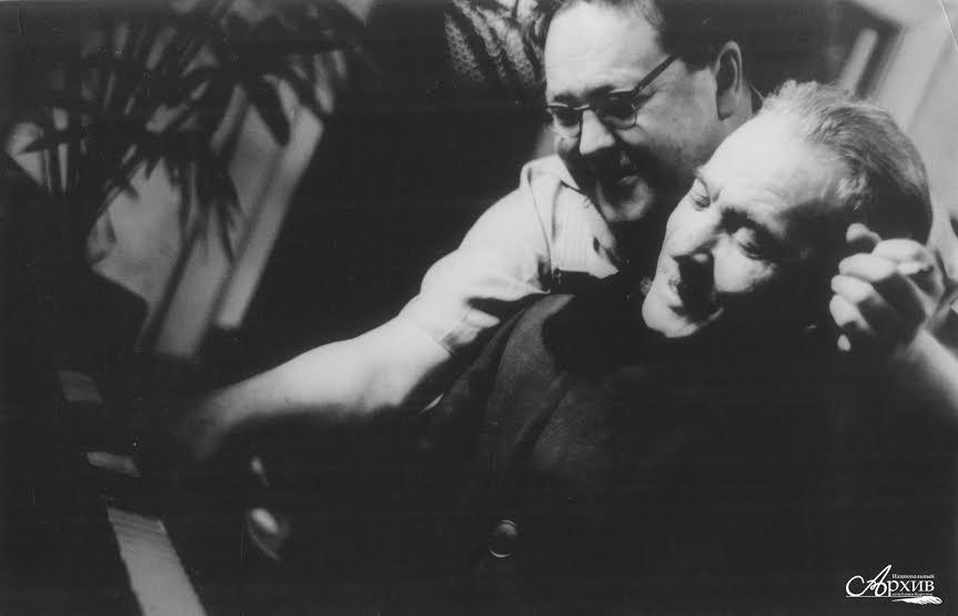 Леопольд Теплицкий (справа) и Гельмер Синисало. 1950-е - начало 1960-х