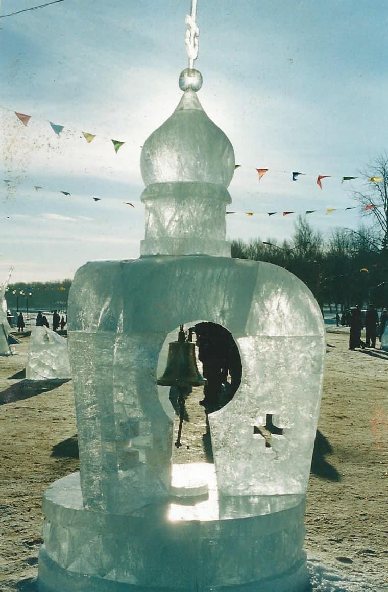 Ледовая скульптура. Петрозаводск