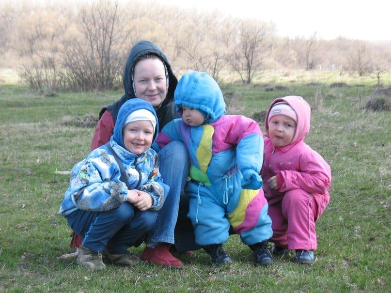 Маша Голубева и ее дети