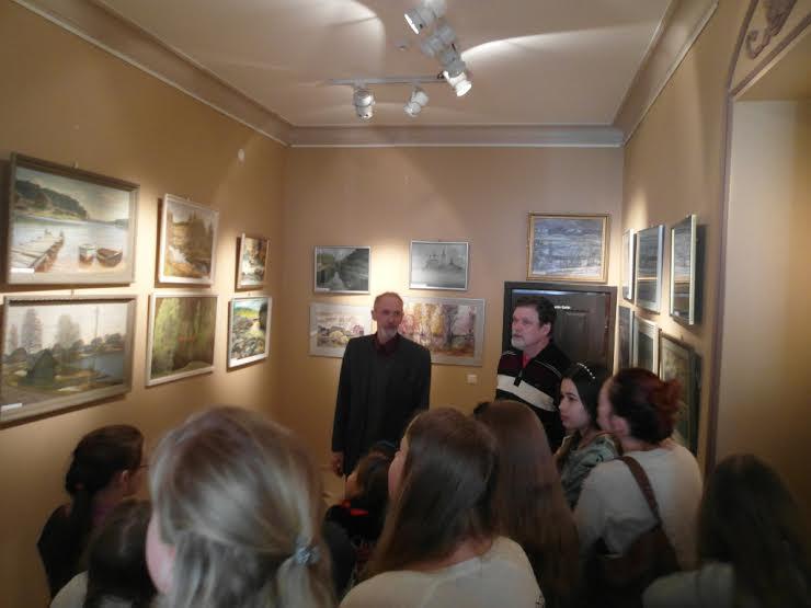 Владимир Лобанов и Валентин Чекмасов на выставке