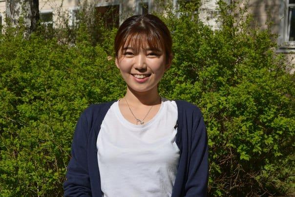 Cтудентка из Южной Кореи Энцзи Хан