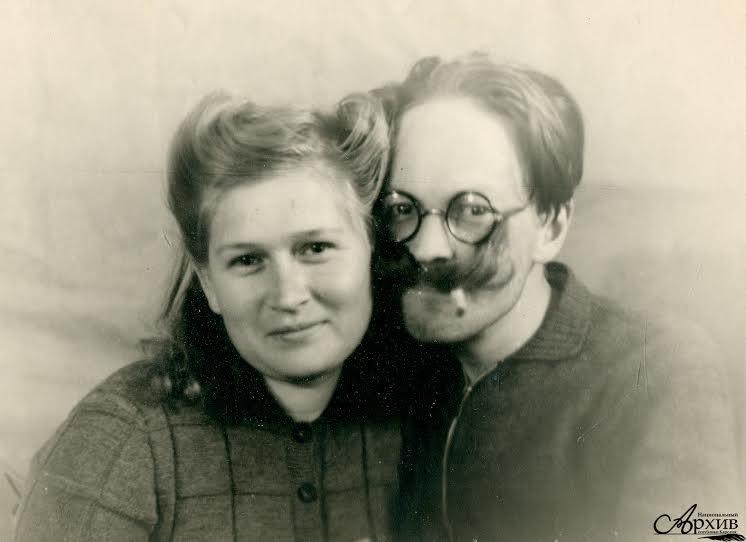 Г.-Р. Н. Синисало с женой В.П. Синисало. 1947 год