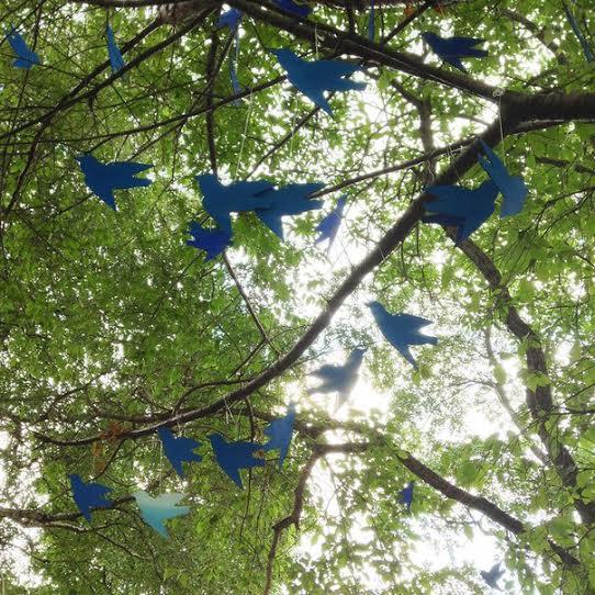 """«Синие птицы». Виктория Зорина (Петрозаводск). Синяя птица - символ счастья и мира. """"Этот объект - мои пожелания городу и горожанам счастья и мира"""""""