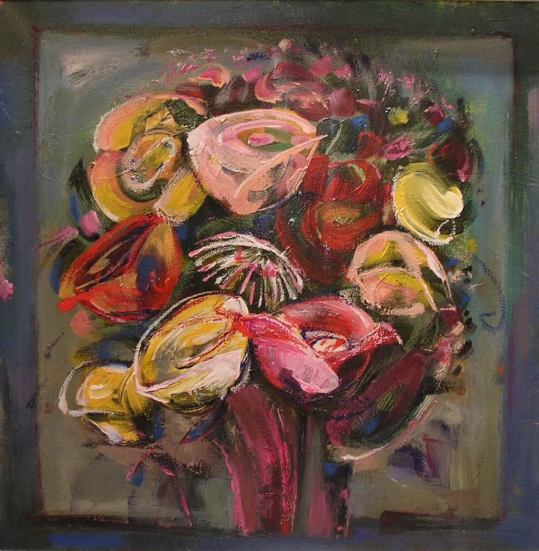 Алла Власенко. Розовый букет. 2008