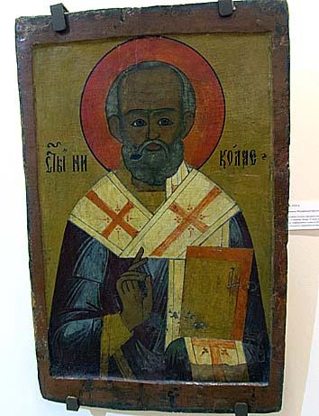 Св. Николай из храма в дерю Терманы. XVIII век