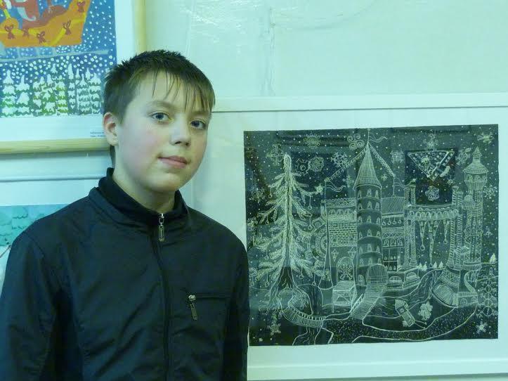 Дмитрий Лягин со своей работой «Волшебное место»
