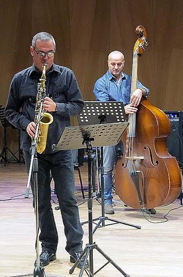 Участники Antonio Flinta Quartet: Пьеркарло Сальвиа (тенор-саксофон) и Роберто Буччи (контрабас)