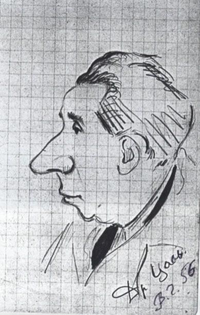 Владимир Голяховский. Шарж на Наума Цаля