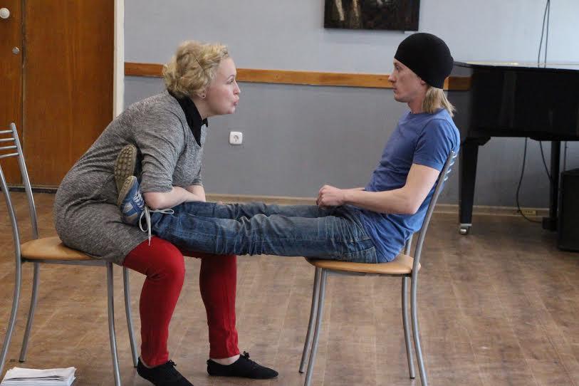 Репетиция спектакля «Оскар и Розовая Дама». Фото Елены Малодушевой