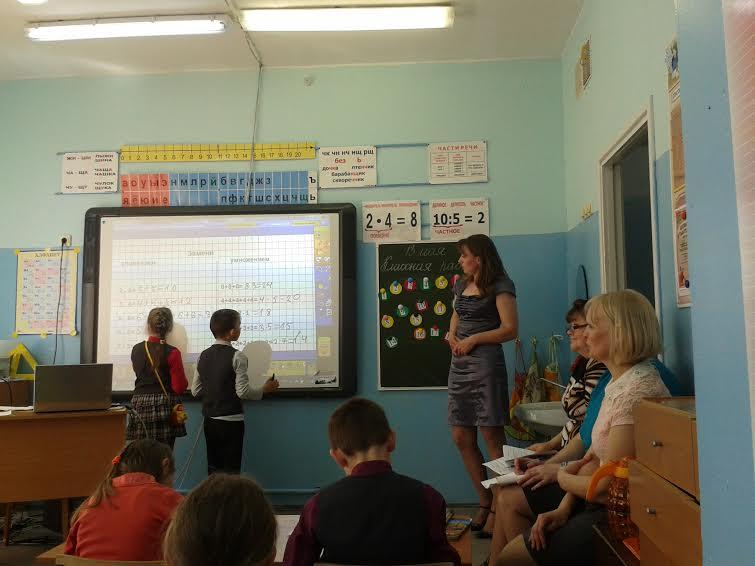 Урок в Шелтозерской школе. Фото Зинаиды Ефловой