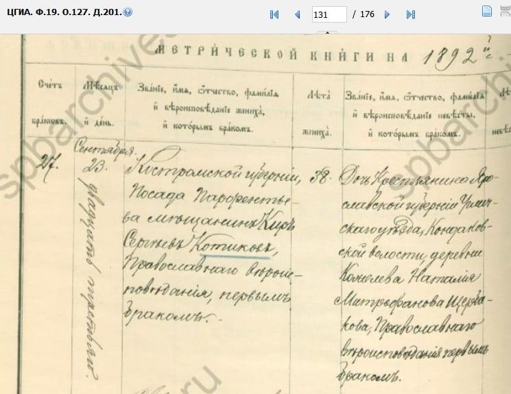 Кир Котиков венчание