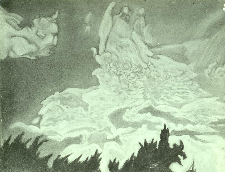 "П.П. Фатеев. Из цикла ""Облака"". 1933 год"