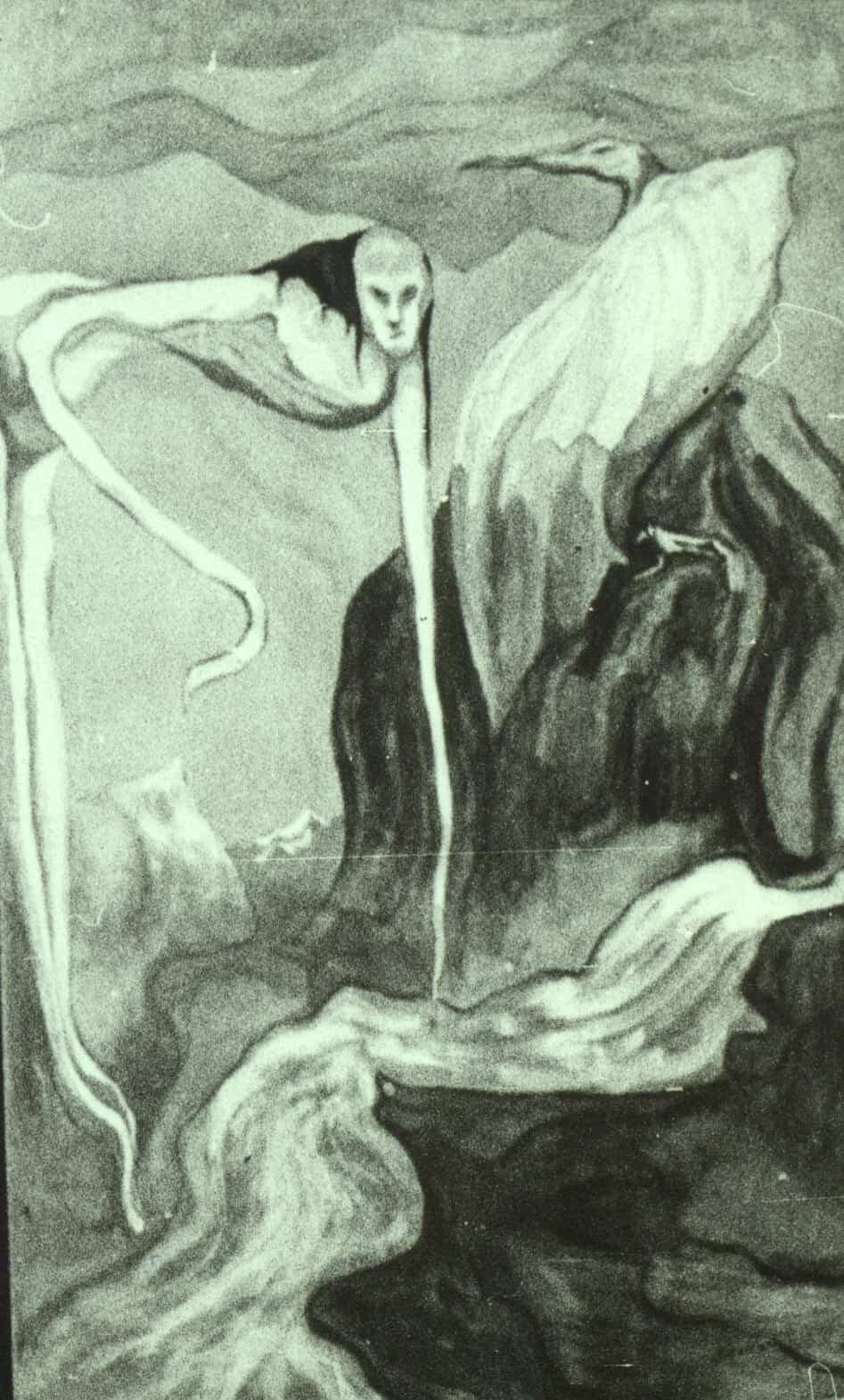 """П.П. Фатеев. С фиолетовым орлом. Из цикла """"Заратустра"""". 1915 год"""