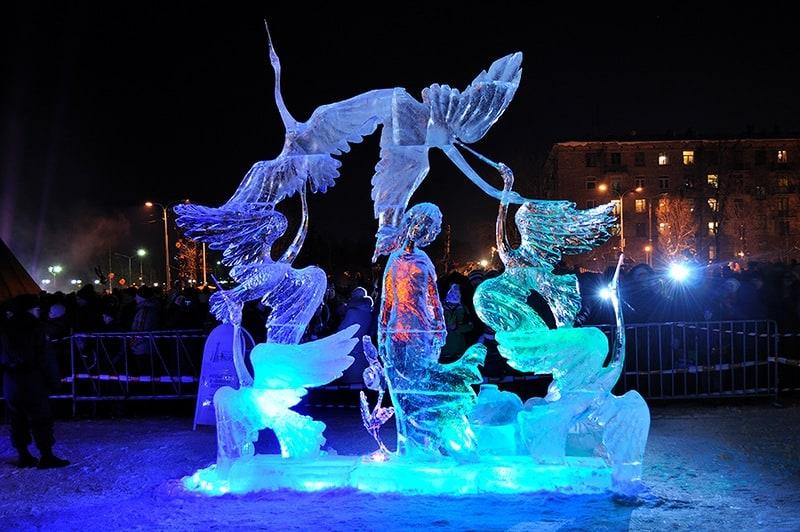 Конкурс снежных и ледовых скульптур