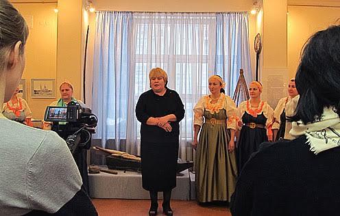 Директор музея-заповедника «Кижи Елена Богданова открывает выставку