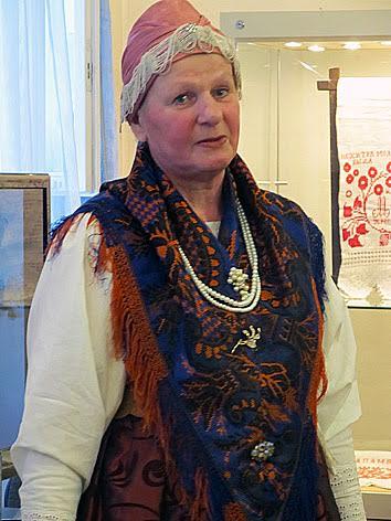 Н.С. Семенова, создатель музея «Хламной сарай» в старинном селе Нюхча
