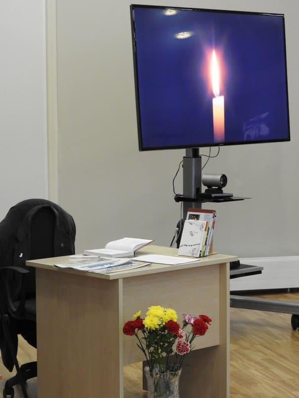 Рабочий стол Николая Абрамова в Национальной библиотеке РК