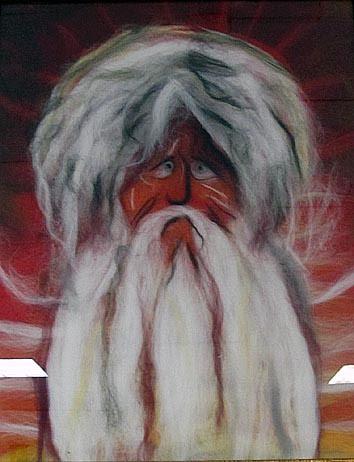 Дарья Малышева, 18 лет, Лицей №1, Петрозаводск. «По фрескам Феофана Грека». Картина из шерсти