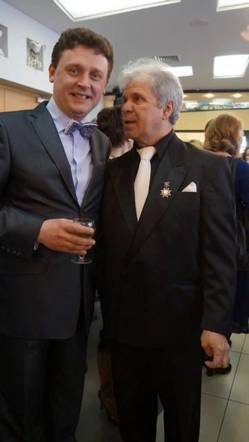 Актеры Александр Картушин (слева) и Александр Довбня