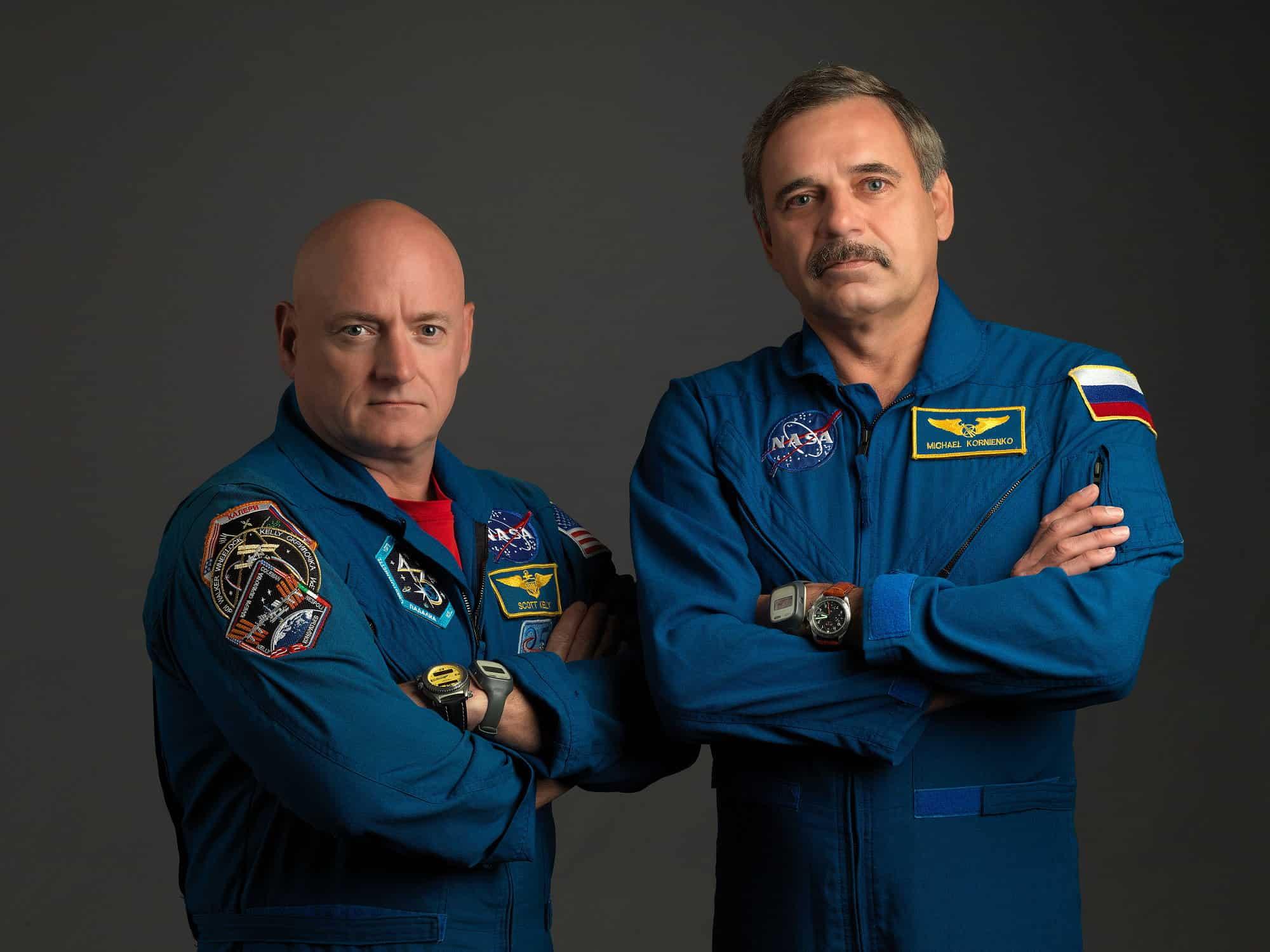Астронавт Скотт Келли и космонавт Михаил Корниенко. Фото naked-science.ru