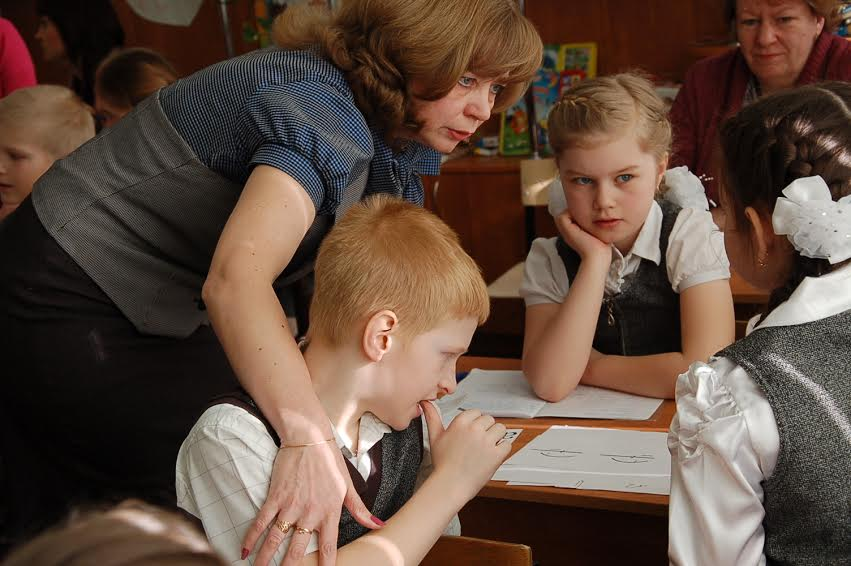 Елена Филимонова на уроке