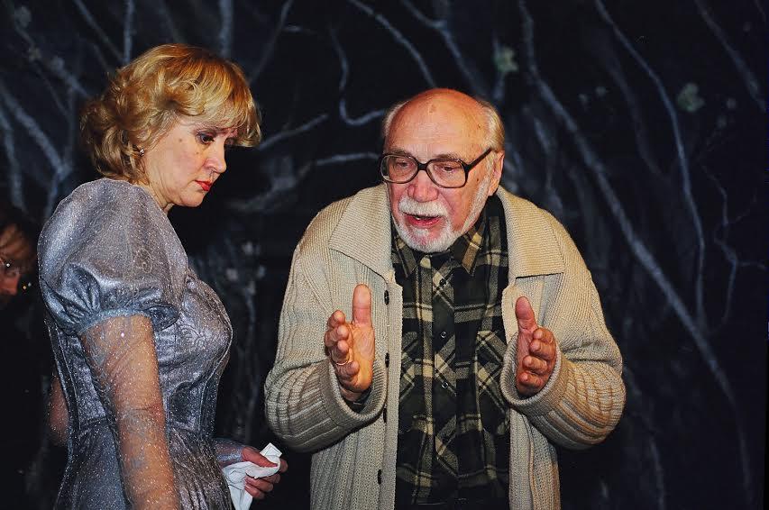 Иван Петров и Людмила Баулина на репетиции