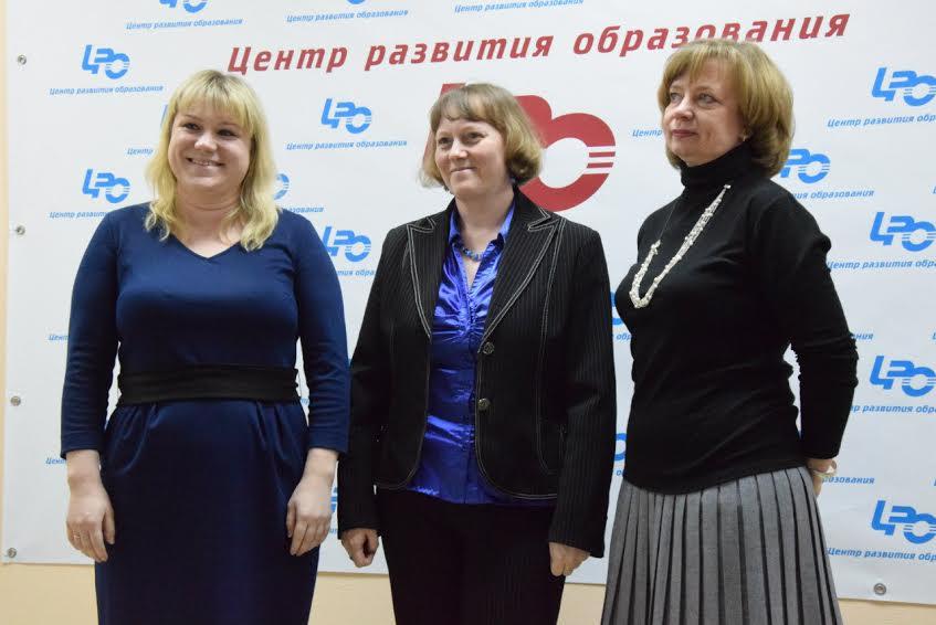 """Финалисты номинации """"Учитель"""" (слева направо): Анна Кривобок, Светлана Телышева, Елена Филимонова"""