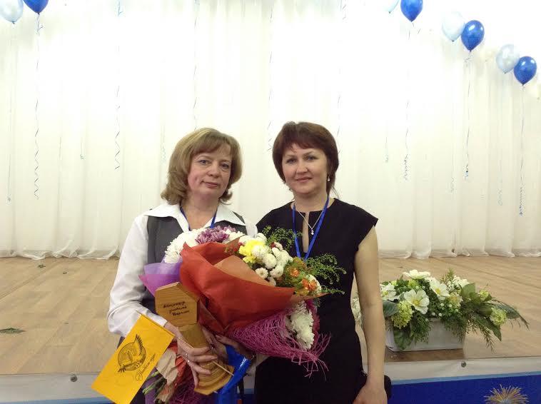 Победитель конкурса 2016 года Елена Филимонова (слева) и победитель конкурса 2015 года Елена Митрофанова