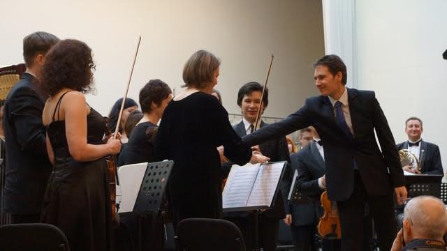 Мариус Стравинский и Айлен Притчин в Карельской филармонии. Фото Ирины Ларионовой