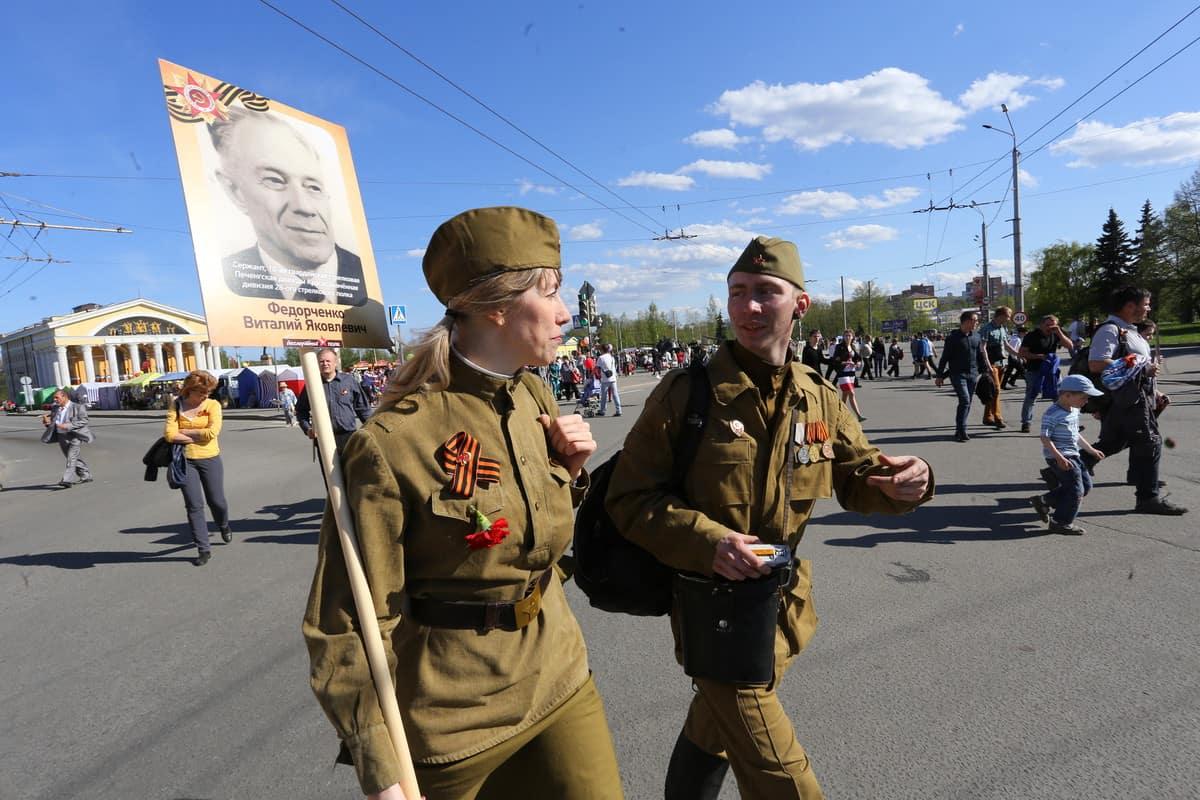 Бессмертный полк в Петрозаводске. Фото Владимира Ларионова