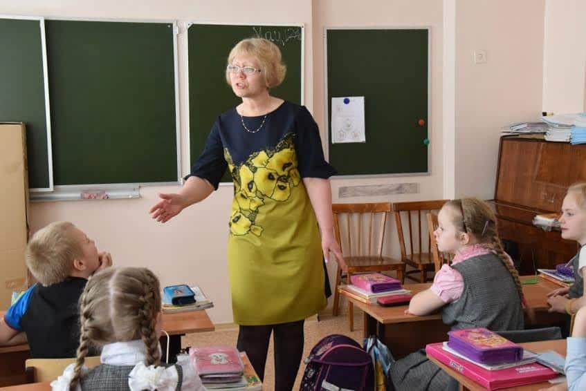 Ольга Николаевна Мамыкина на уроке