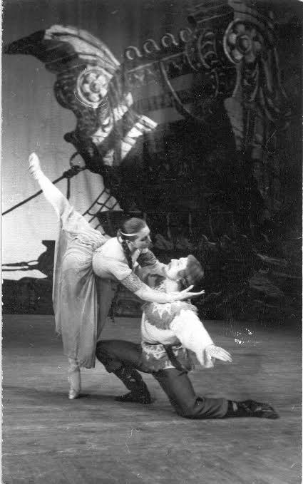 "Балет ""Сампо"". 1970 год. Наталья Гальцина - Невеста; Илмаринен - Борис Крупчаткин"