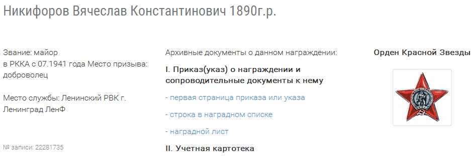 Никифоров Вячеслав Константинович