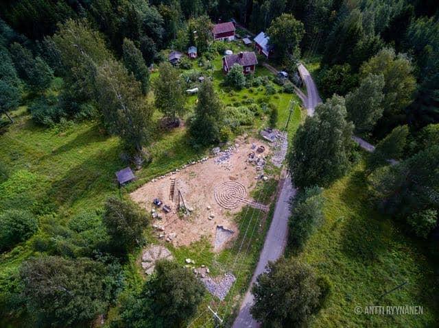 Сад камней с высоты птичьего полета. Фото Анти Рююнянен