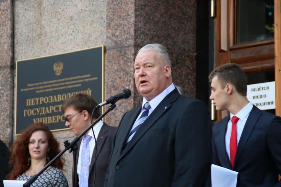 Ректор ПетрГУ Анатолий Воронин
