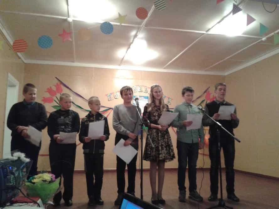 Поздравление от выпускников-учеников Ведлозерской школы