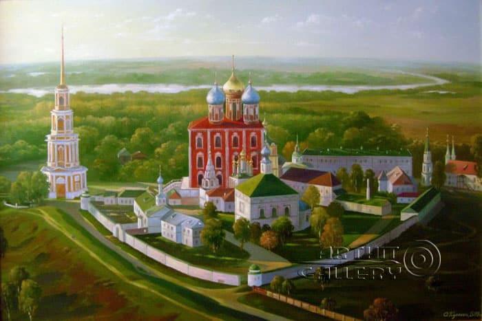 Вид на Рязанский Кремль. Автор Олег Кулагин