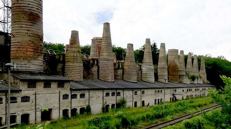 Система печей завода по производству извести. 1877 год. Рюдерсдорф, Германия